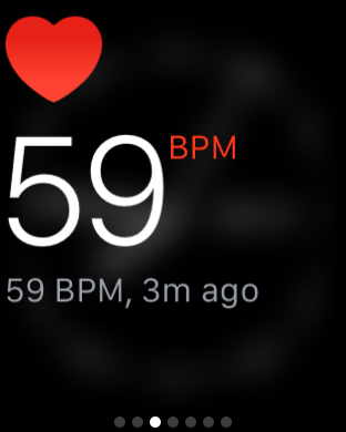 My Heart rate as I write these words. It took a good 30 seconds for this to come through.