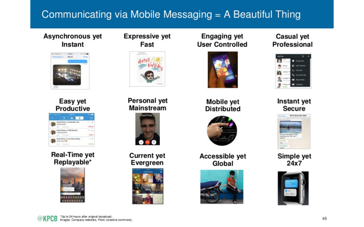 Mary Meeker - Mobile Messaging
